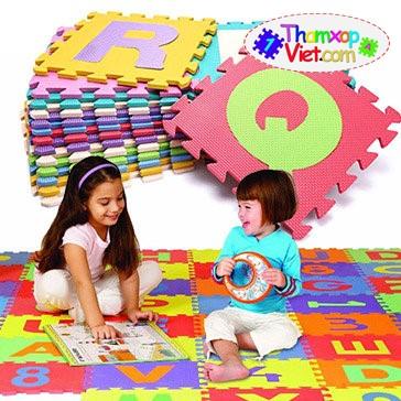 Thảm xốp cho bé vui chơi sáng tạo
