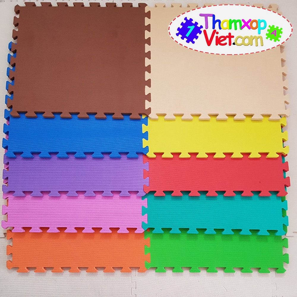 Thảm xốp lót sàn 10 màu cho bạn lựa chọn